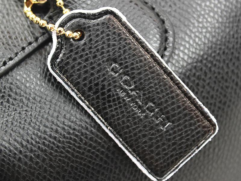 Handbag Edge Repair - Coach Custom - closeup of tag